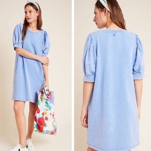 Anthropologie Blue Basel Ruched Tunic Dress Size XS